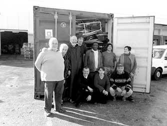 Premier containeur de matériel médical réalisé en partenariat avec Guinée Solidarité Provence