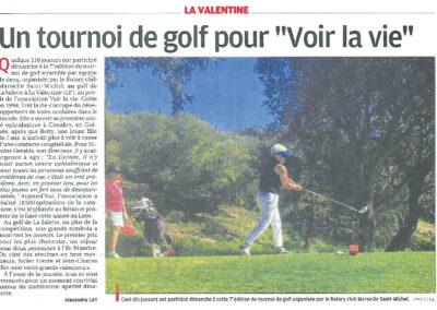 Tournoi de Golf pour Voir la Vie