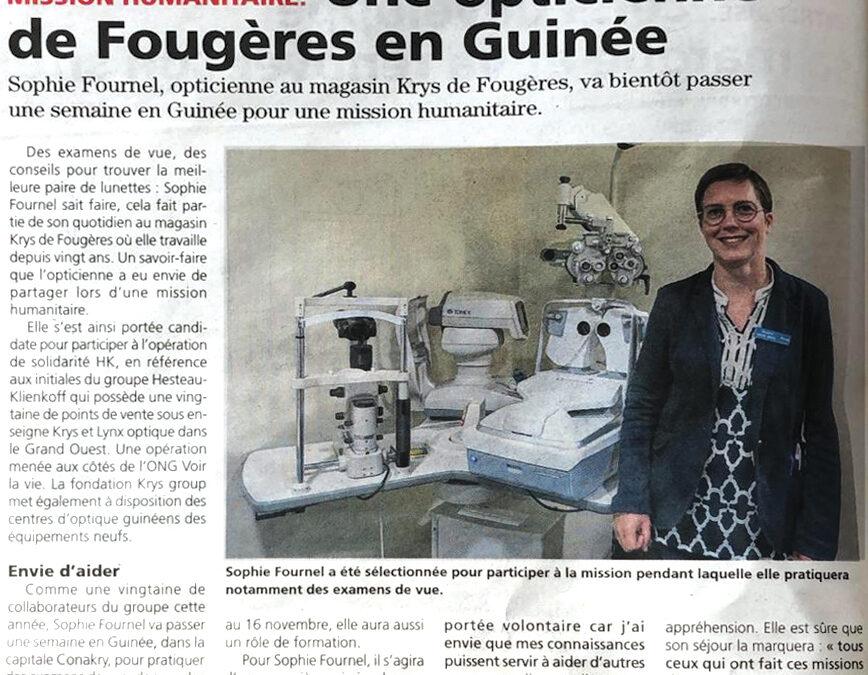 Une opticienne Krys de Fougères en Guinée
