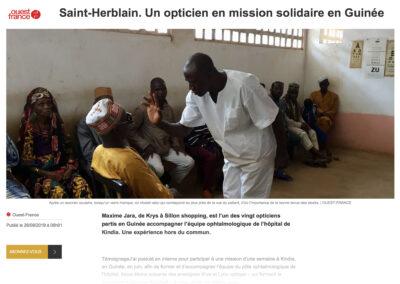 Saint-Herblain. Un opticien Krys en mission solidaire en Guinée
