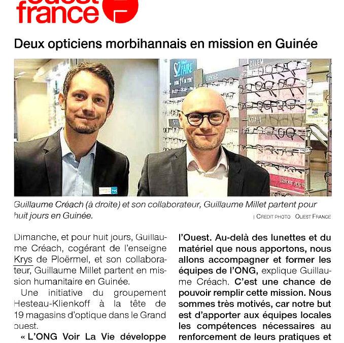 Deux opticiens morbihannais en mission an Guinée – 2019